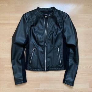 Express Black Faux Leather Moto Jacket